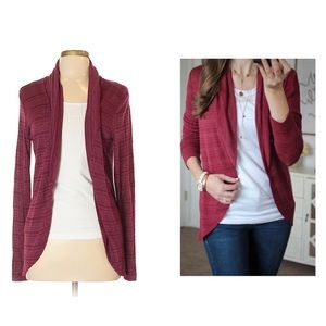 Stitch Fix Laila Jayde Burgundy Open Front Sweater